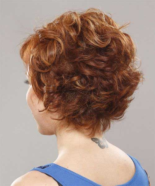 Curly-Pixie-Hairstyle-for-Over-40-Back-View Short Hair For Over 40
