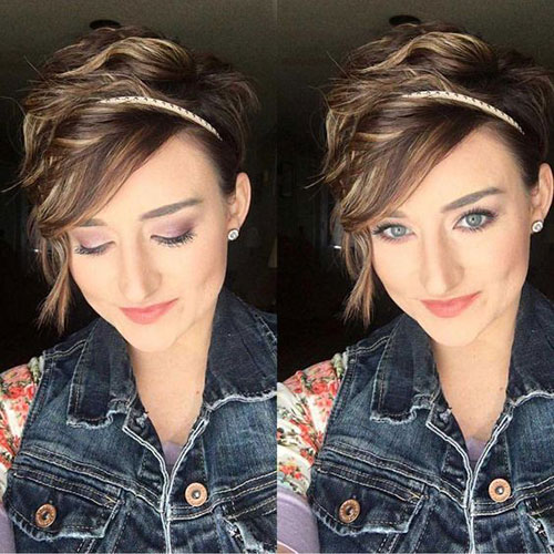 Cute-Girl-Hairstyle-1 Short Pixie Cuts for Round Faces