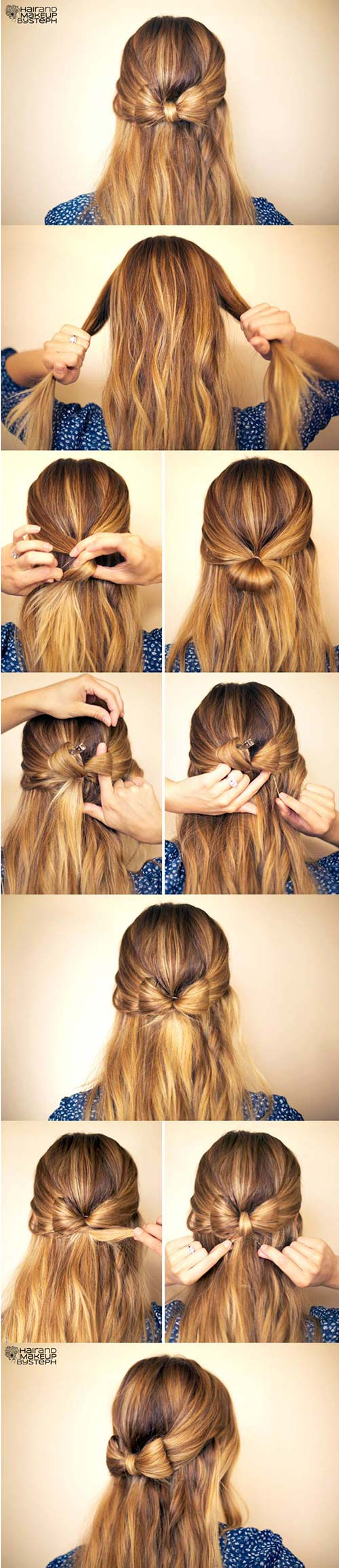 Half-Up-Bow Awesome Hairstyles For Girls With Long Hair