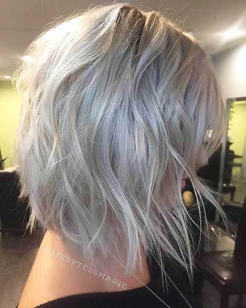 Inverted-Cut Best Short Choppy Hair for Ladies