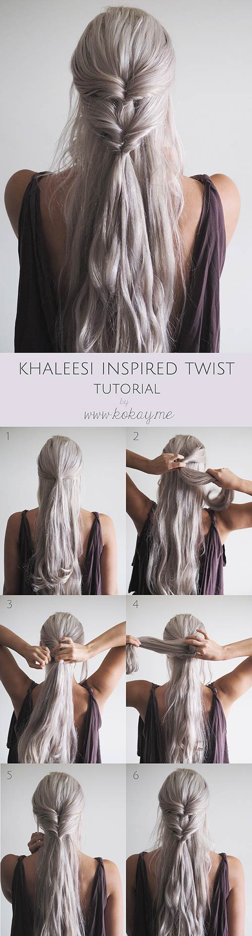 Khaleesi-Inspired-Twist Awesome Hairstyles For Girls With Long Hair