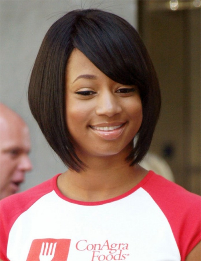 Layered-Inverted-Cut-with-Side-Bangs Exclusive African American Bob Hairstyles