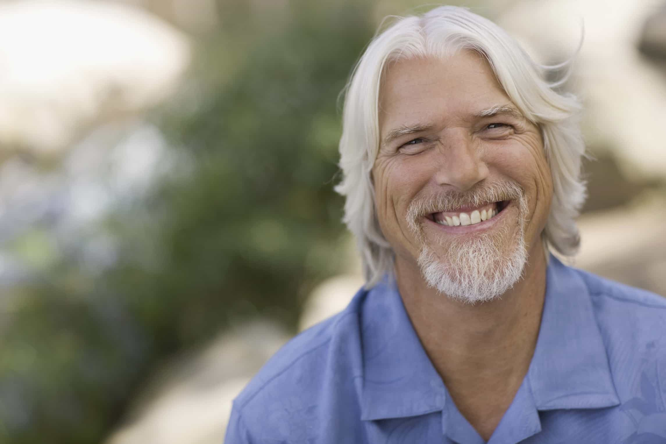 Long-Layered-Grey-Hair Grey Hairstyles for Men to Look Smart and Dashing