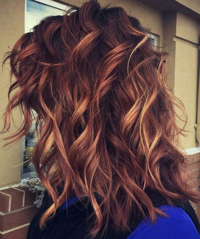 Medium-Length-Style-for-Thick-Hair Best and Beautiful Hairstyles with Color