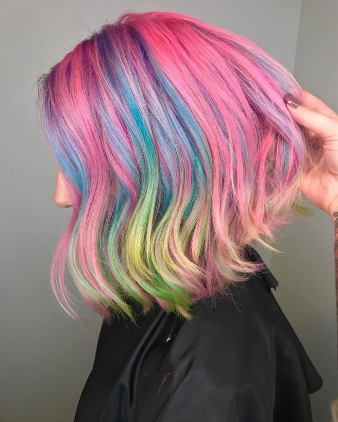 Mermaid-Hair Best and Beautiful Hairstyles with Color