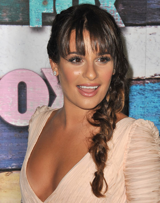 Messy-Textured-Braid Layered Hairstyles With Bangs