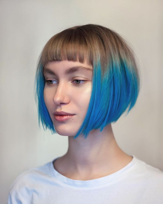 Neon-Glowing-Hair Best and Beautiful Hairstyles with Color