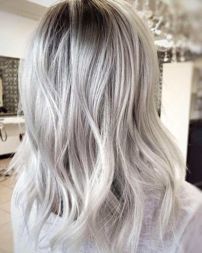 Ombre-Silver-Blonde Best and Beautiful Hairstyles with Color