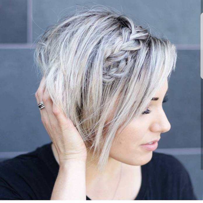Pixie-with-a-Braid Style Personified Short Hairstyles for Young Women