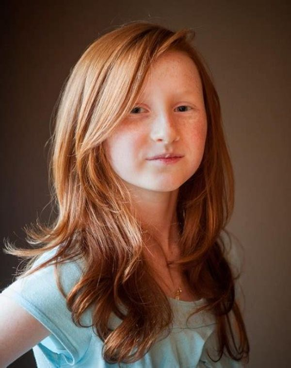Redhead-Layered-Hairstyle Cute and Adorable Little Girl Haircuts