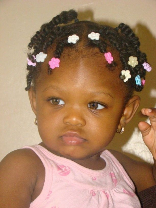 Roped-Cornrow-in-Permed-Hair-for-African-Tiny-Tots Cutest African American Kids Hairstyles
