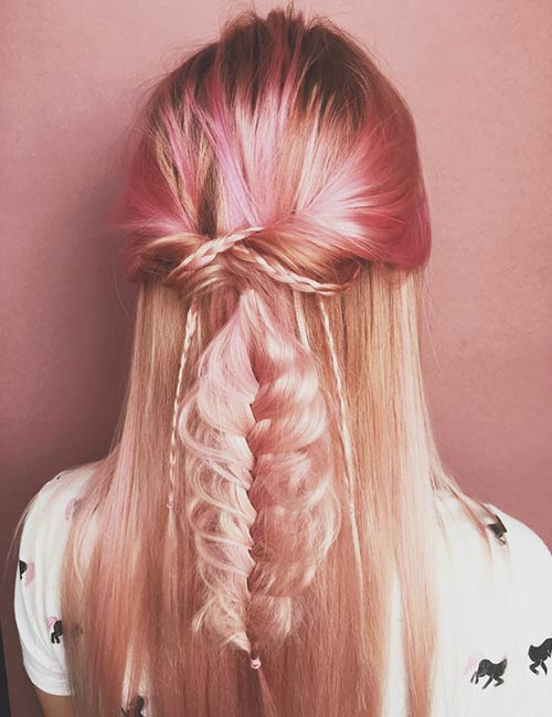 Rose-Gold Fabulous Hair Colors To Beat The Heat This Summer