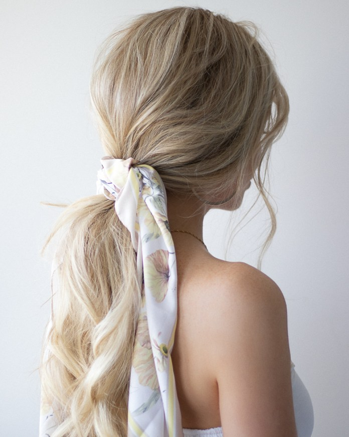 Scarf-Hairstyle Spring Hairstyles to Outshine Your Beauty