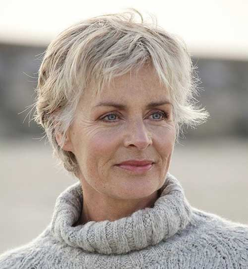 Short-Blonde-Pixie-Hairstyle Ideas of Short Hairstyles for Women Over 50