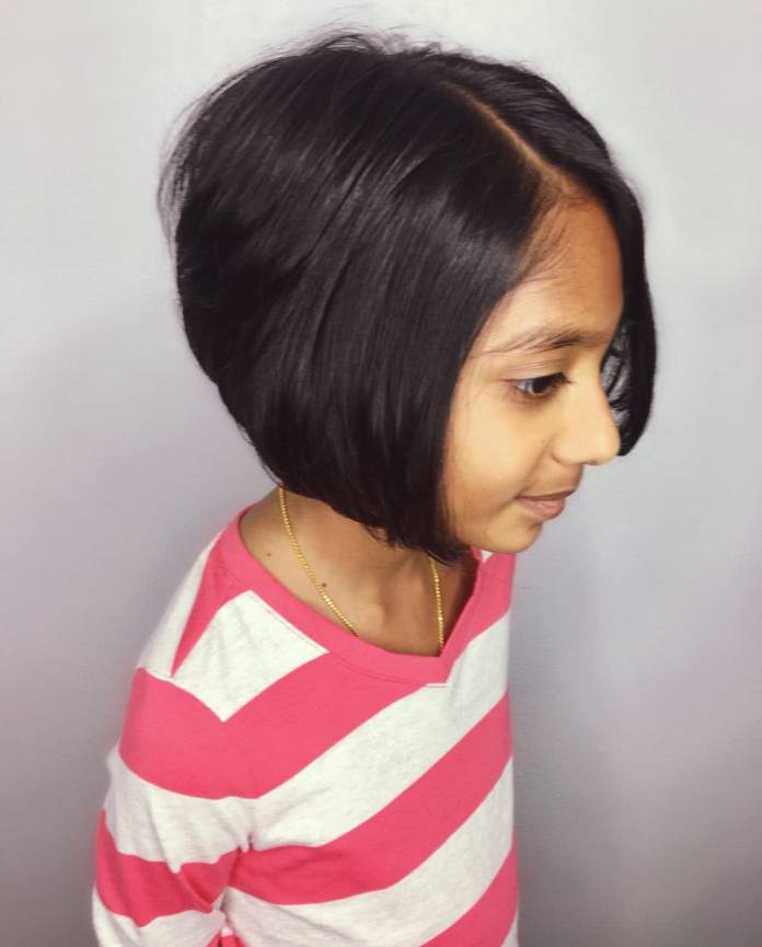 Short-Bob-Hairstyle Cute and Adorable Little Girl Haircuts