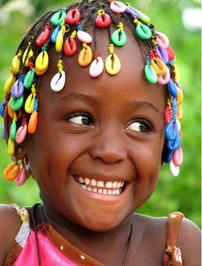 Short-Braids-with-Colored-Beads-Hairstyle Cute and Adorable Little Girl Haircuts
