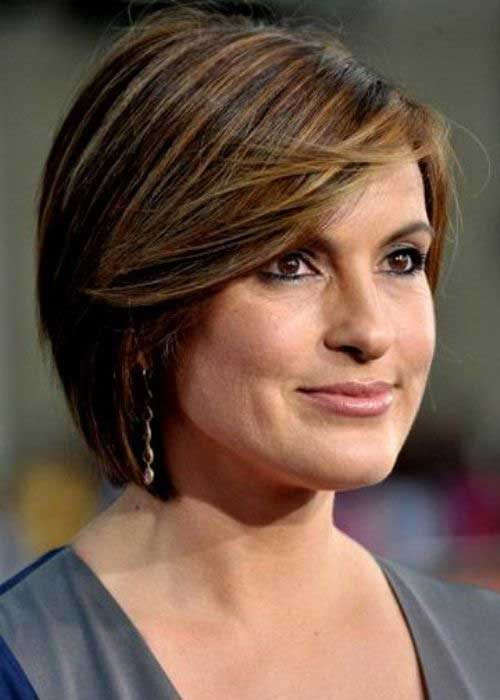 Short-Brown-Bob-Hairstyle-for-Over-40 Short Hair For Over 40