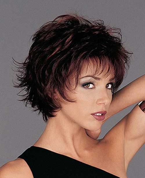Short-Layered-Pixie-with-Bangs-for-Over-40 Short Hair For Over 40