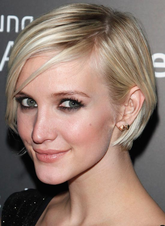 Short-Platinum-Concave-Bob Most Popular Coolest Teen Hairstyles For Girls