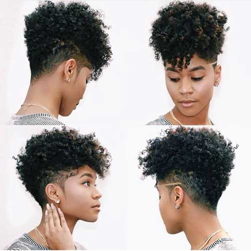 Short-Side-Haircut-African-American-Hair Latest Short Haircuts for African American Women