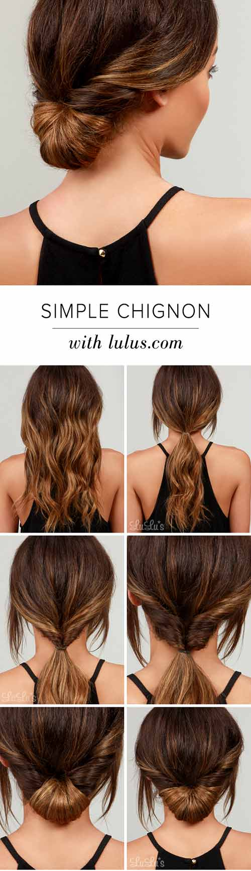 Simple-Chignon Awesome Hairstyles For Girls With Long Hair