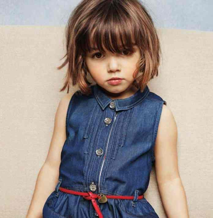 Sleek-Bob-Princess-Hairstyle Cute and Adorable Little Girl Haircuts