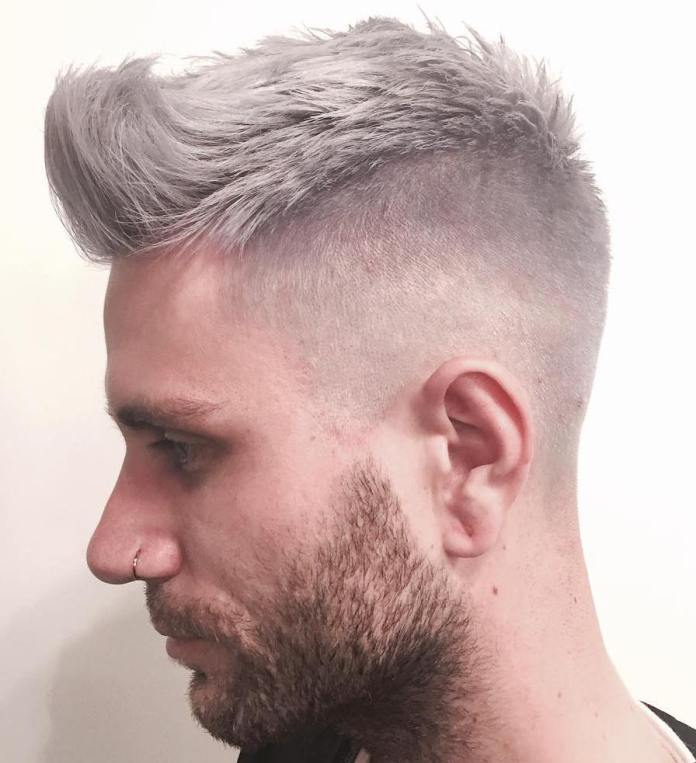 Spiked-Grey-Hairstyle Grey Hairstyles for Men to Look Smart and Dashing