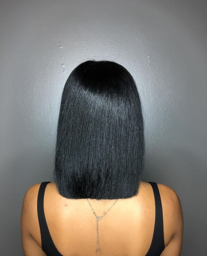 Straight-Blunt Exclusive African American Bob Hairstyles