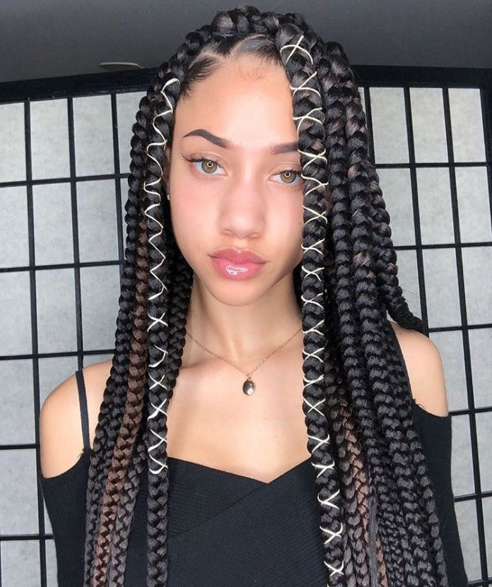 String-Box-Braids-Hairstyle Cute African American Hairstyles for Gorgeous Look