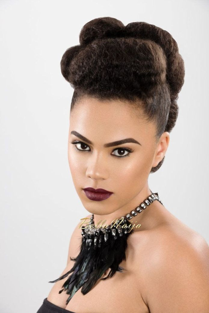 Stylish-Poof-with-a-Chic-Bun Most Stylish Afro Hairstyles for Women to Look Stunning
