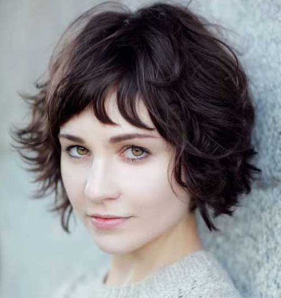 Super-Short-Waves Layered Hairstyles With Bangs