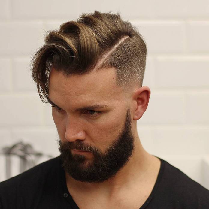 Textured-Comb-Over-Hairstyle Ultra Dashing Medium Hairstyles for Boys