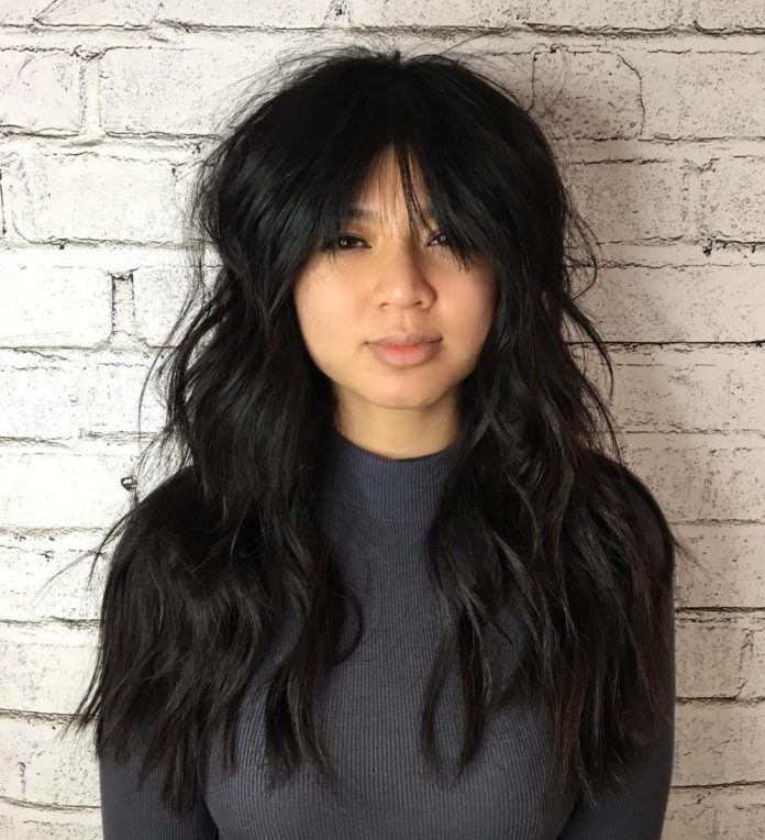 Textured-Shag-with-Soft-Waves-and-Bangs Modern Hairstyles for Women to Look Trendy