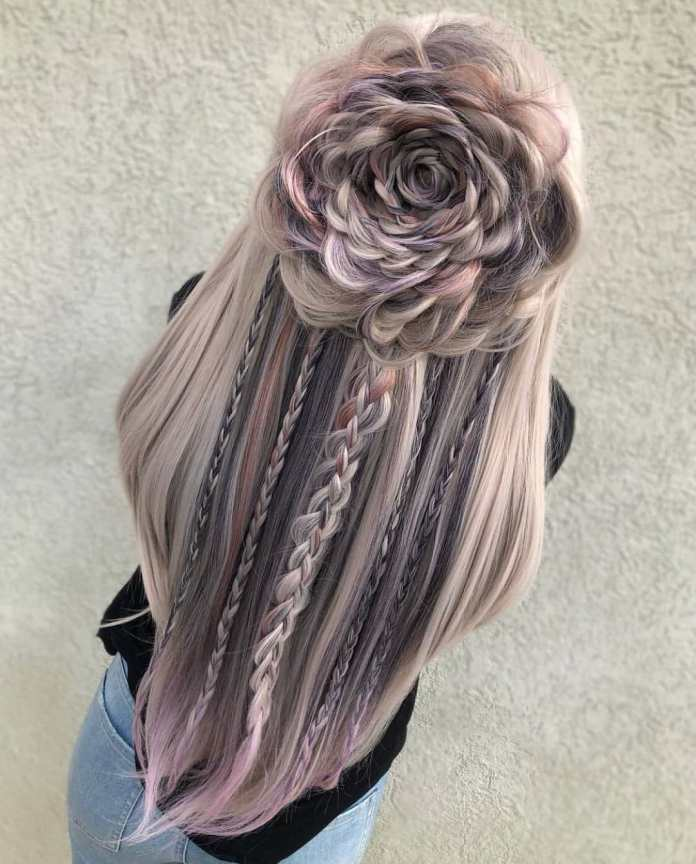 The-Four-Strand-Braid Most Adorable Long Hairstyles with Braids