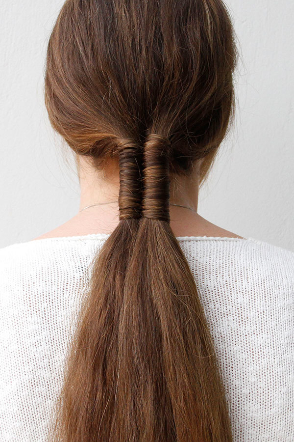 Twisted-Ponytail Most Adorable Long Hairstyles with Braids