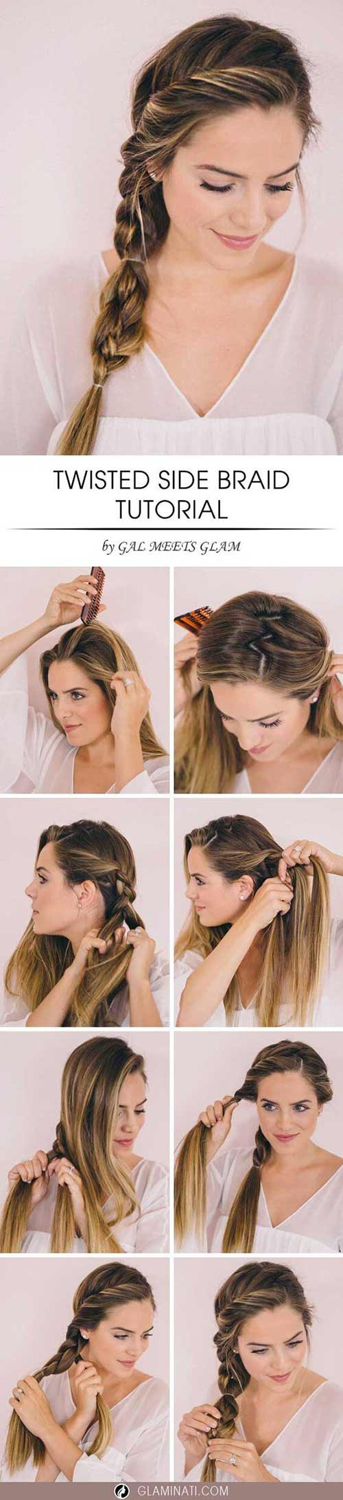 Twisted-Side-Braid Awesome Hairstyles For Girls With Long Hair