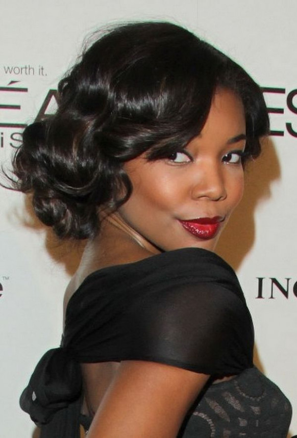 Twisted-and-Wavy-Curls-with-Short-Hair Most Stylish Prom Hairstyles for Black Girls