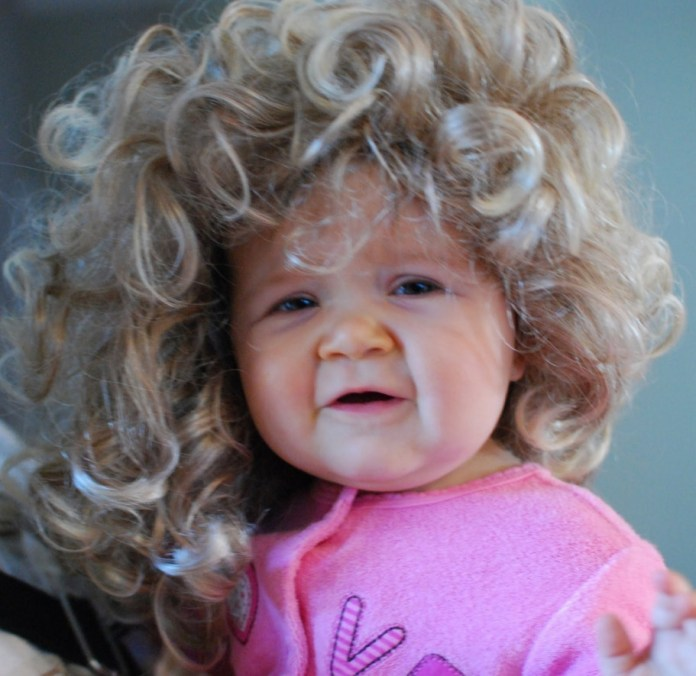Vintage-Curls-Hairstyle Cute and Adorable Little Girl Haircuts