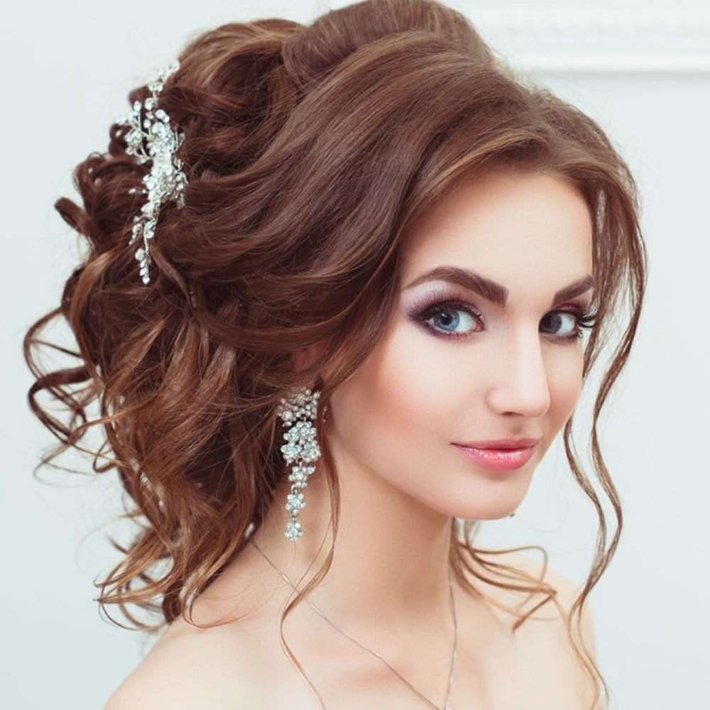 A-Cinderella-Look-Hairstyle-with-the-Messy-Accessorized-Bun Christmas Party Hairstyles to Enhance Your Look