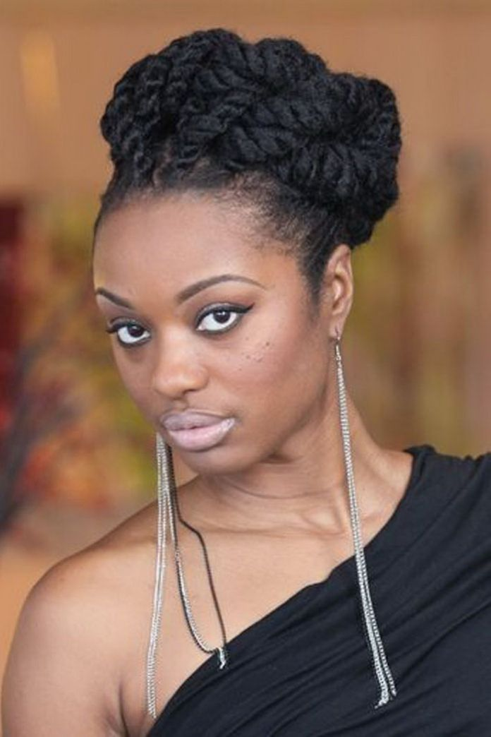 African-American-French-Roll-Bun Stylish and Stunning African American Braids
