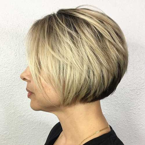 Blonde-Bob-Haircut Short Bob Cuts for Stylish Ladies