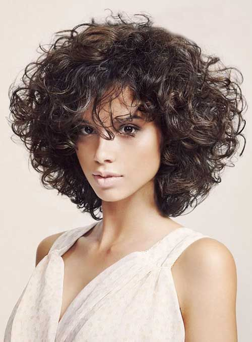Bob-Haircuts-for-Curly-Hair Stylish and Glamorous Curly Bob Hairstyle for Women