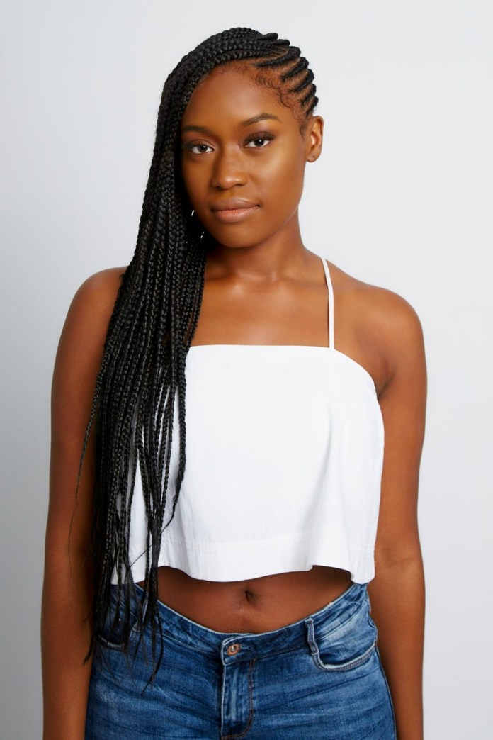 Cornrow-Knotless-Braid-Hairstyle Cool and Trendy Knotless Box Braids Styles