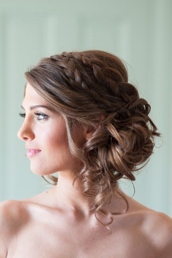 Crisscross-Knotted-Braid-across-The-Head Christmas Party Hairstyles to Enhance Your Look