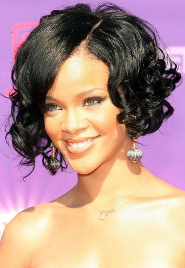 Curly-Wavy-Black-Lengths-with-Asymmetric-Hair-Cut Charming and Cute Hairstyles for Black Women