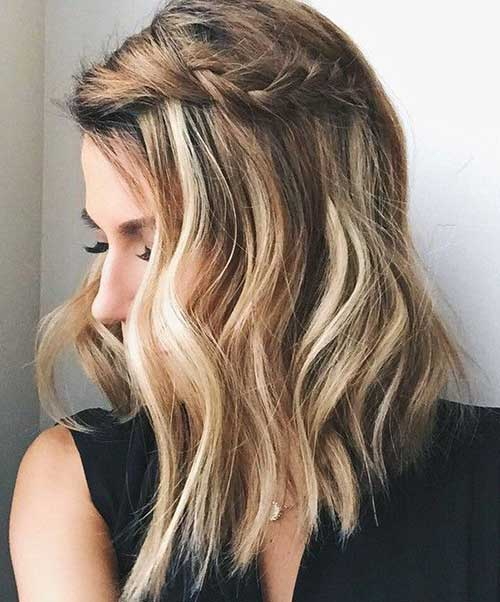 Cute-and-Easy-Braided-Hairstyle-for-Short-Hair Cute Easy Hairstyles For Short Hair