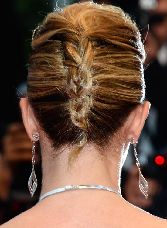 Double-French-Twist-With-Braided-Style Bridal Hairstyle Ideas For Your Reception