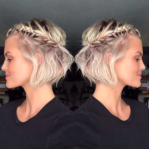 Half-Braids-for-Short-Hair-2019 Alternatives Cute Braids for Short Hair