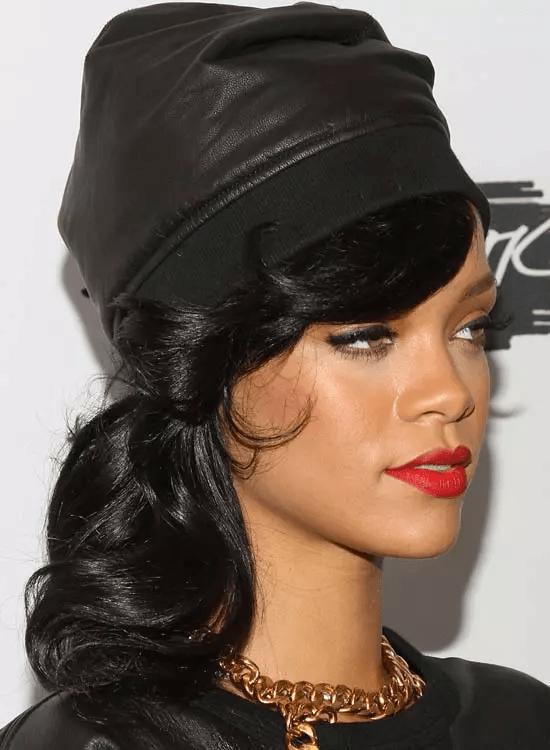 Head-Gear Best Rihanna Hairstyles