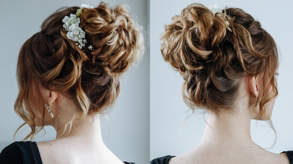 High-Messy-Bun-Hairstyle Most Gorgeous Looking Chignon Hairstyles